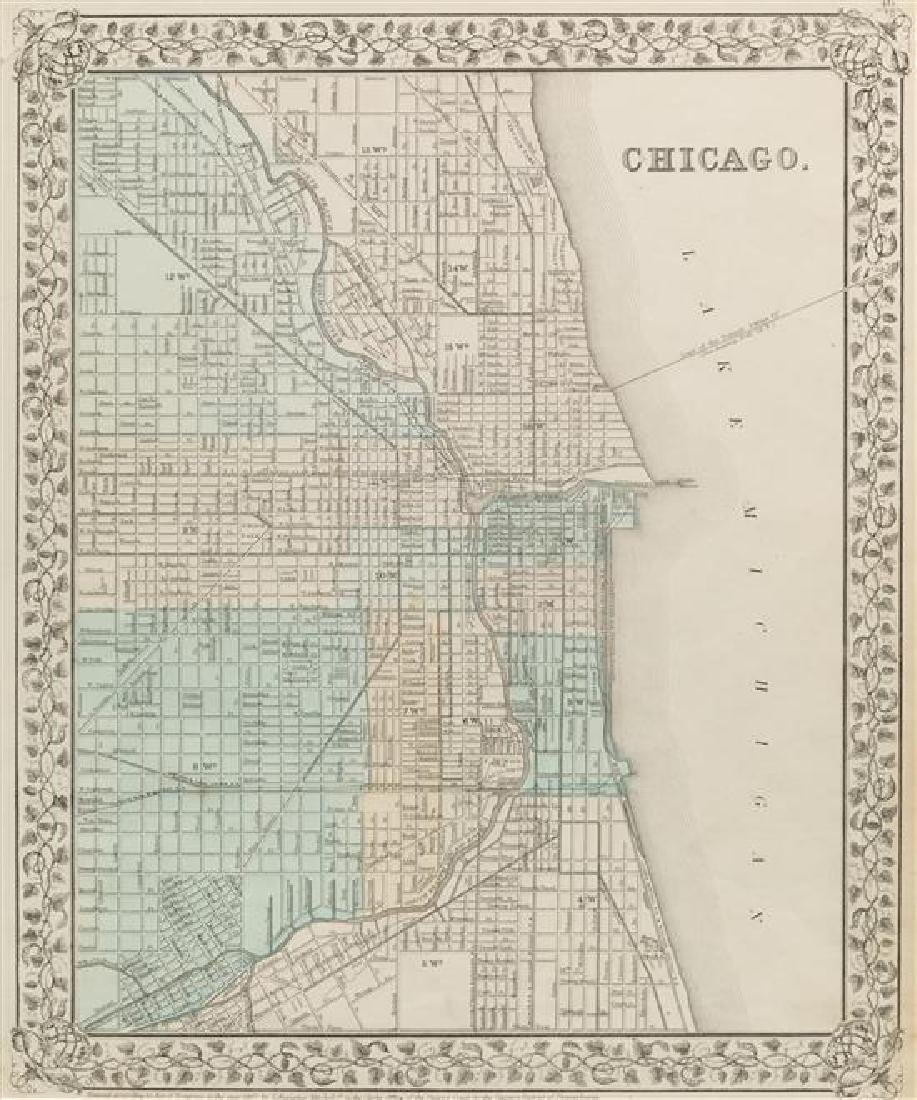 [MAPS OF CHICAGO AND ILLINOIS]. A group of 4 maps and