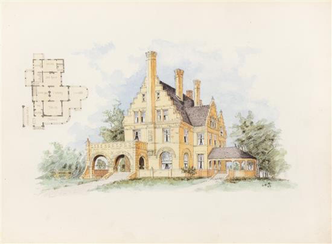 [ARCHITECTURE]. MATZ, Otto (1830-1919). Sketchbook, ca