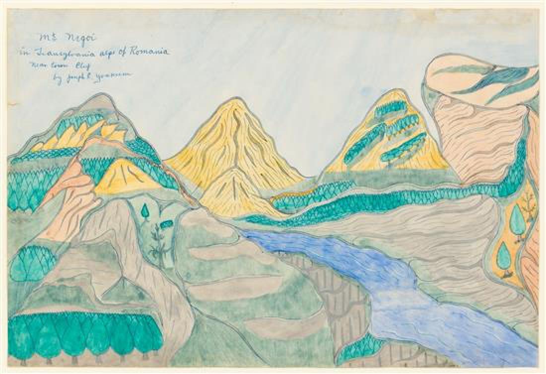 Joseph Yoakum, (American, 1886-1972), Mt. Negoi in