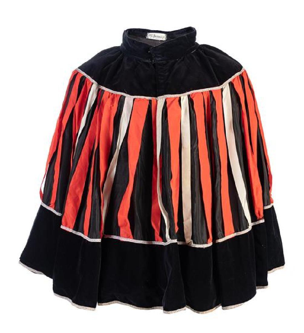 A Lyric Opera Black and Red Stripe Cape,