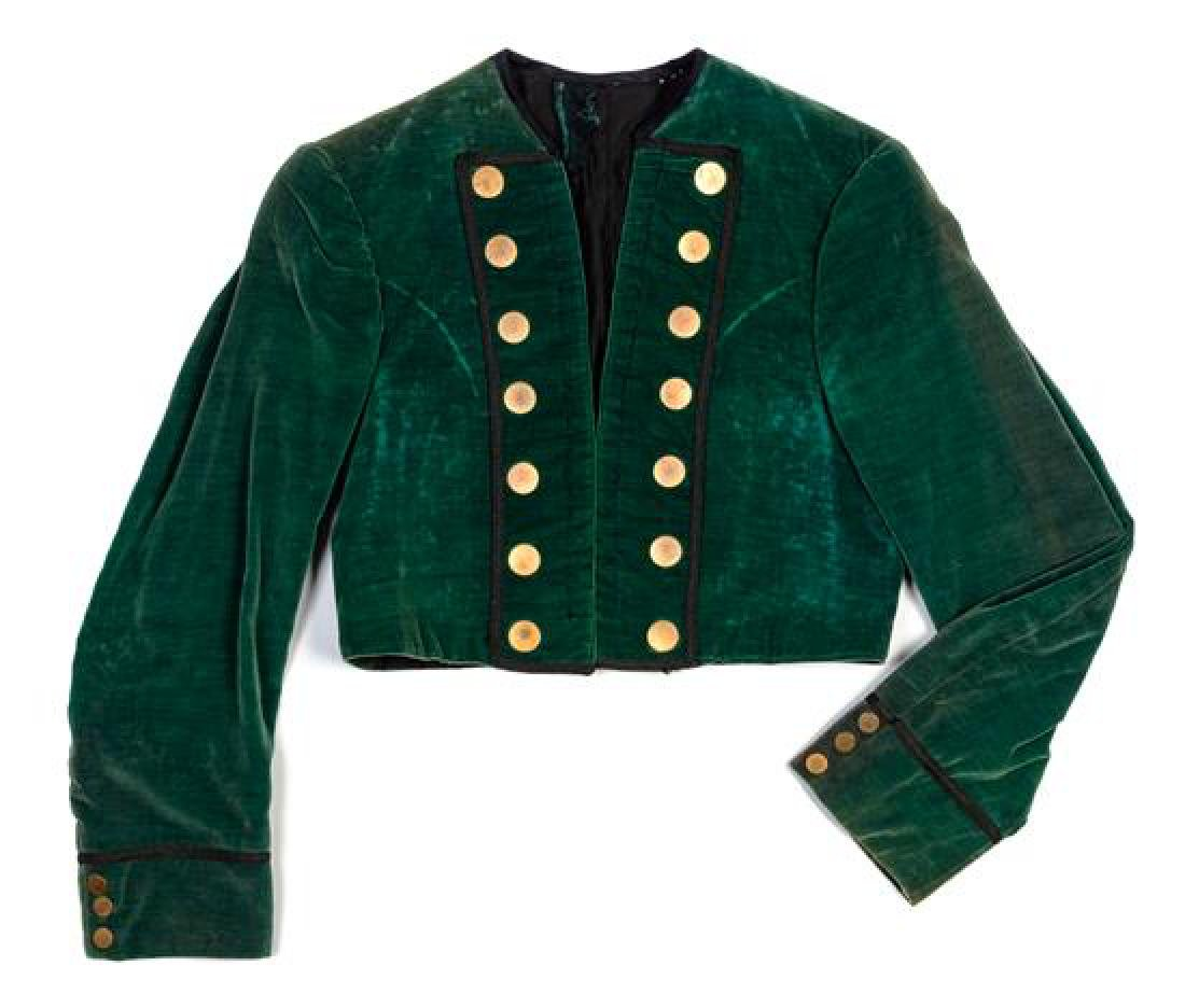 A Lyric Opera Green Velvet Double Breasted Bolero,