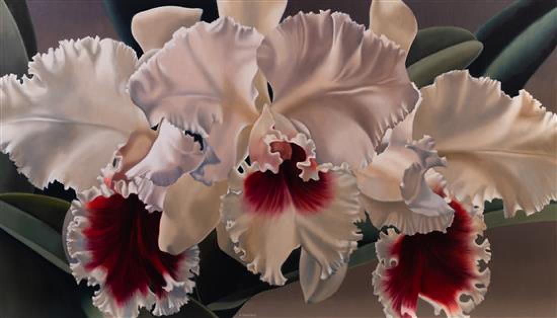 * Winifred Godfrey, (American, b. 1944), White Orchids