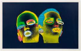 * Ed Paschke, (American, 1939-2004), Indigo Deux, 1988