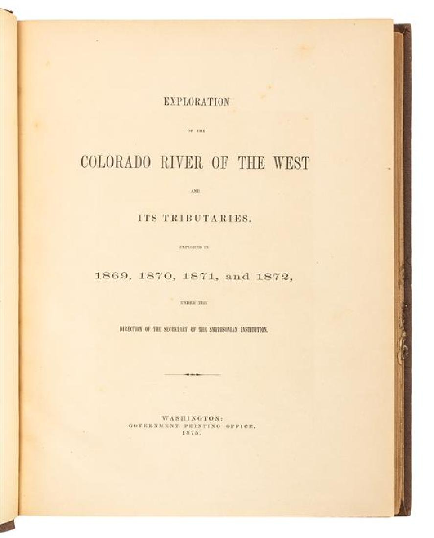 POWELL, John Wesley. Exploration of the Colorado River - 2