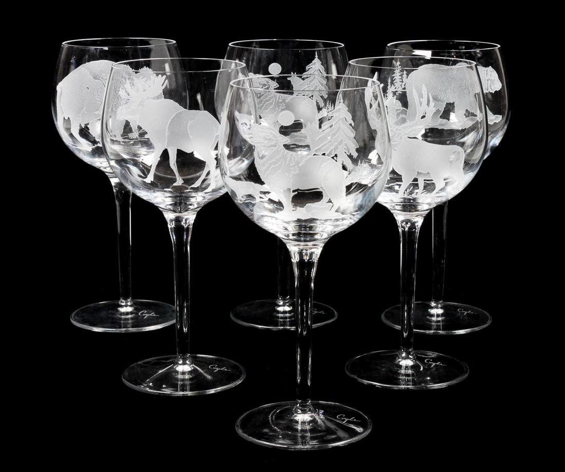 Collection Etched Crystal Stemware by Perry Coyle