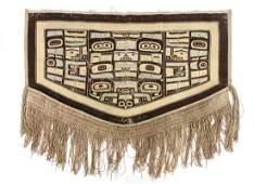 Tlingit Chilkat Dance Blanket 63 x 52 inches