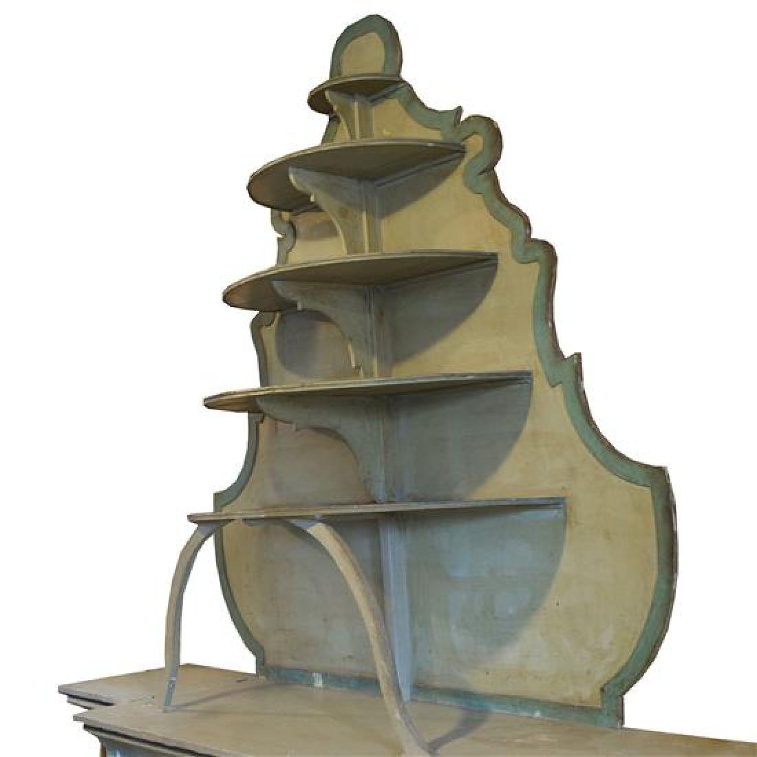 A Painted Six Tier Display Shelf for Lisotti Distilling - 3