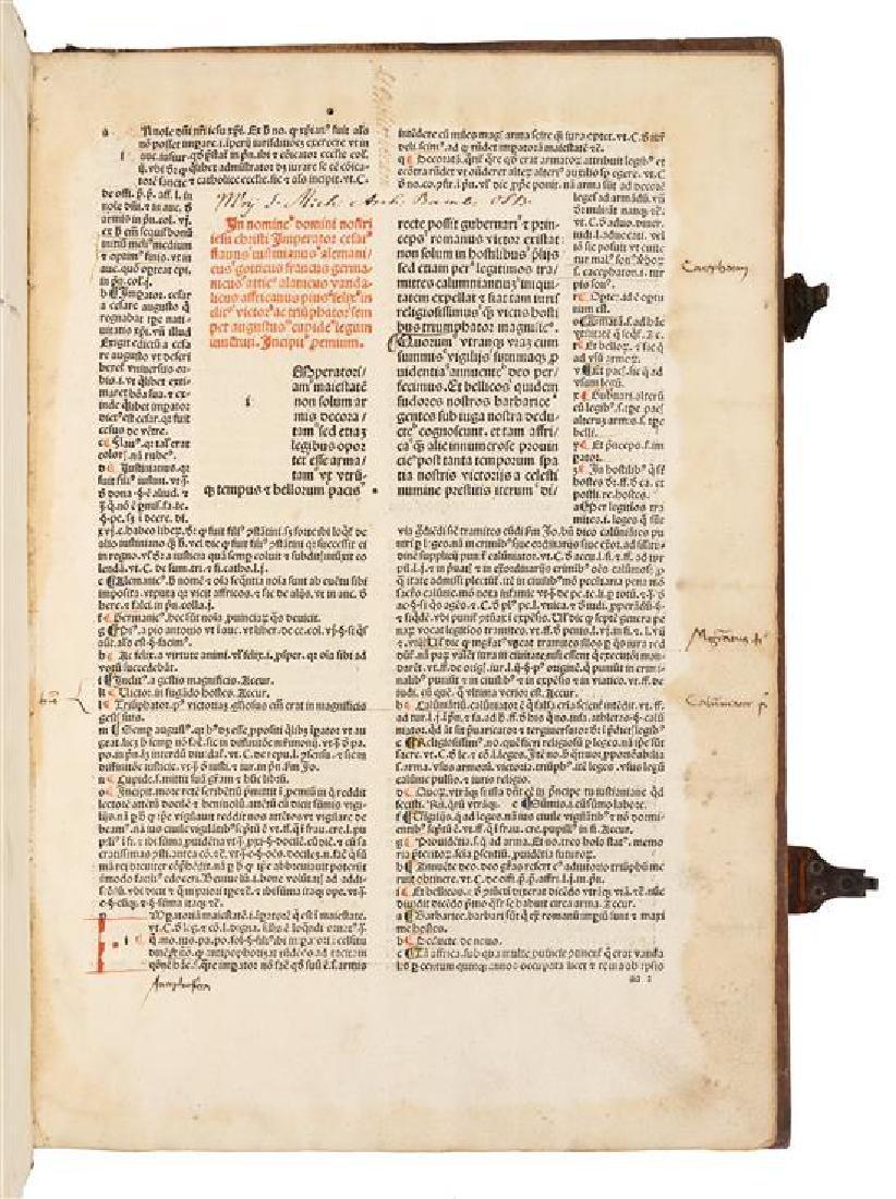 * JUSTINIANUS I, Emperor (483-565). Institutiones.