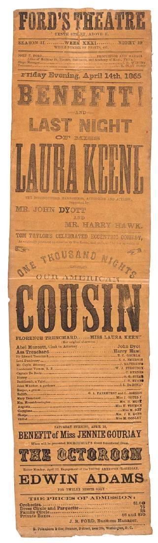 [LINCOLN, Abraham -- ASSASSINATION]. Ford's