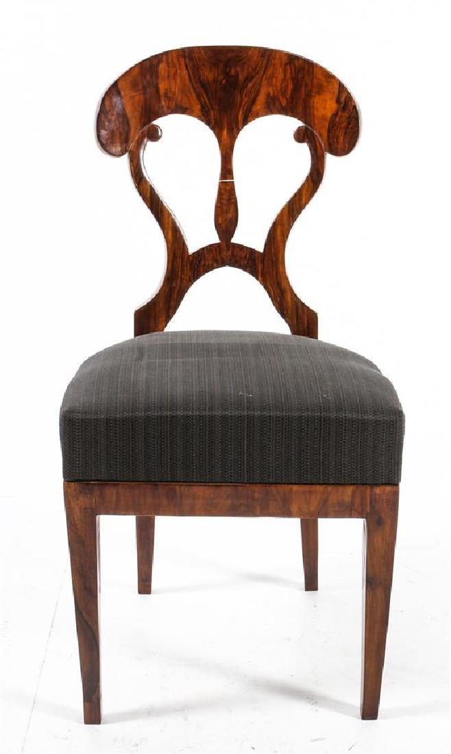 A Biedermeier Side Chair Height 26 1/4 inches.