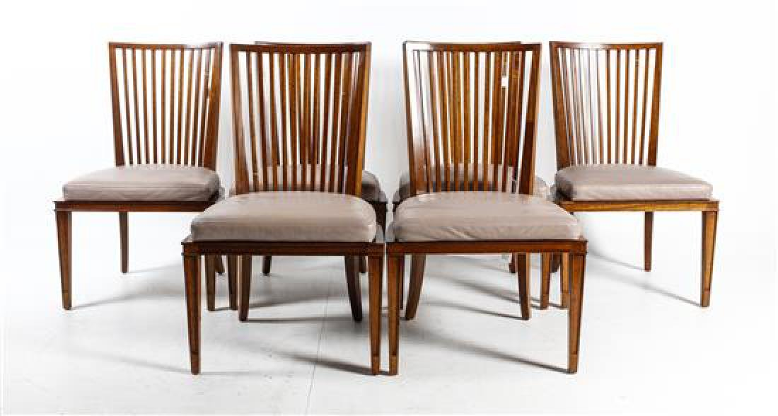 * A Set of Six Baker Dining Chairs Height 37 3/4