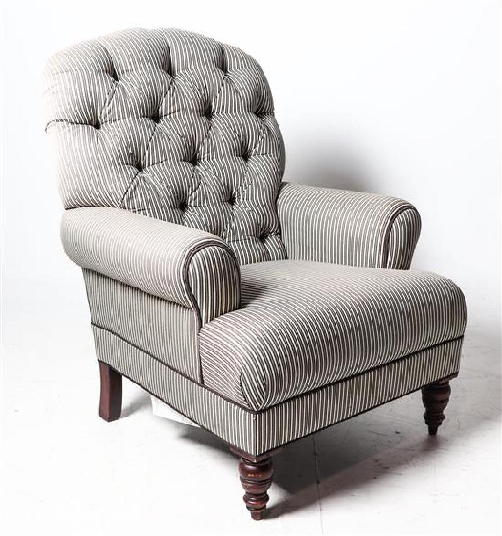 A Ralph Lauren Club Chair Height 43 Inches.