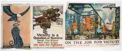 * A Group of Eight WWI Posters Largest 51 x 35 inches.