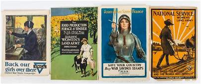 * A Group of Four WWI Posters Largest 30 x 20 inches.