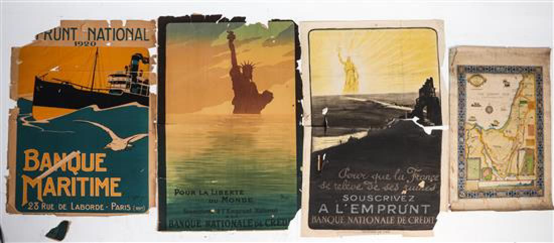 * A Group of French WWI Posters Largest 47 3/4 x 31 1/2
