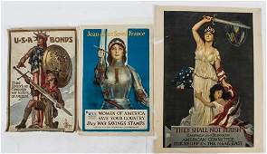 * A Group of Seven American WWI Posters Largest 42 1/4