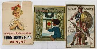 * A Group of Eight American WWI Posters Largest 39 7/8