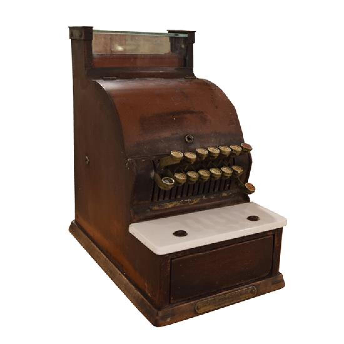 "A Cash Register by the National Cash Register Co. 12"" W - 4"