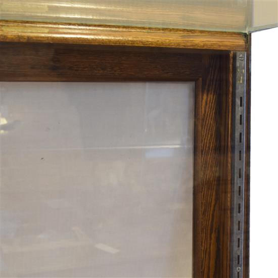 """An Oak and Marble Display Case 27"""" W x 26.5"""" D x 60"""" H - 2"""