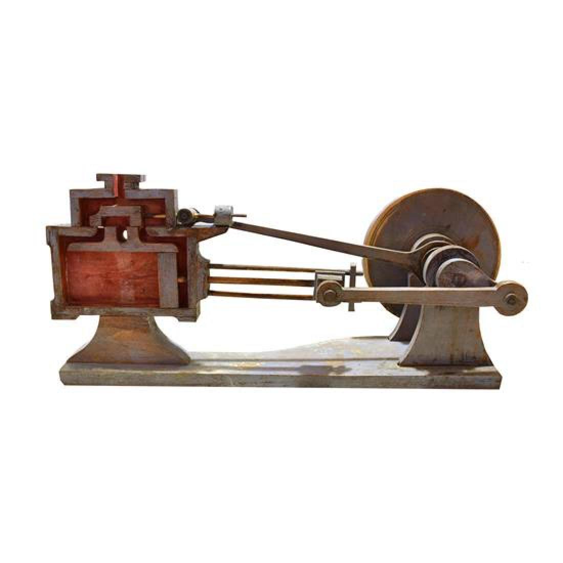 "A Wood Mechanical Teaching Model 28"" W x 14"" D x 12.5"""