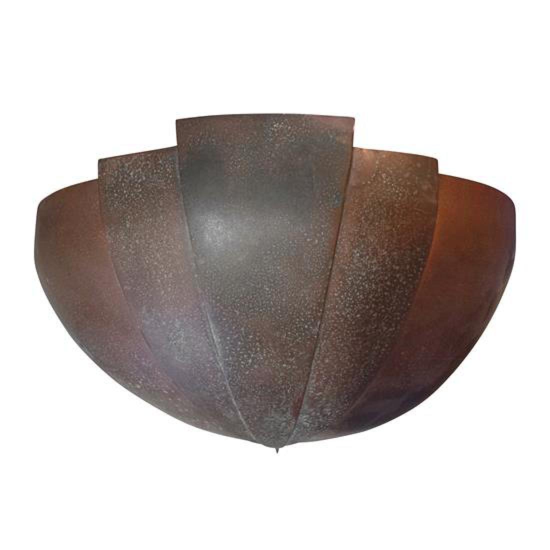 """An Art Deco Copper Sconce 14"""" W x 7.5"""" D x 8"""" H"""