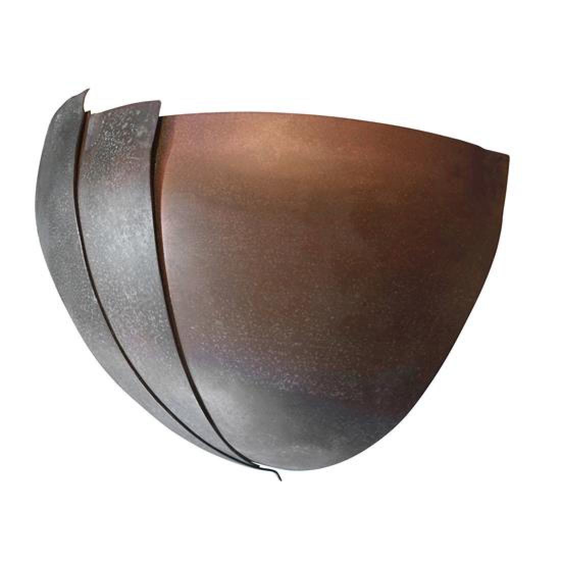 """An Art Deco Copper Sconce 14"""" W x 7.5"""" D x 8"""" H - 3"""