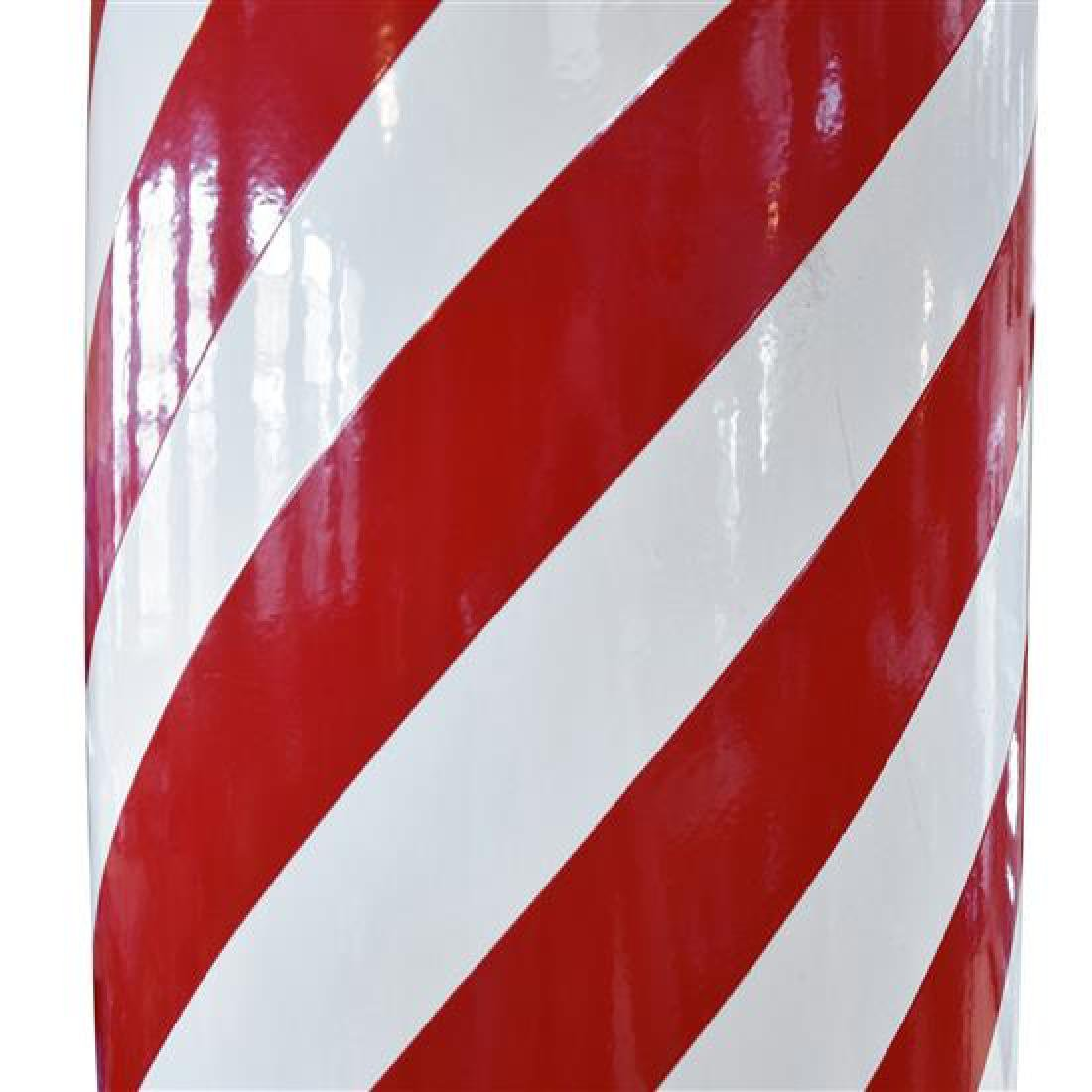 """A Metal and Glass Barber Pole 12"""" W x 12"""" D x 89"""" H - 2"""