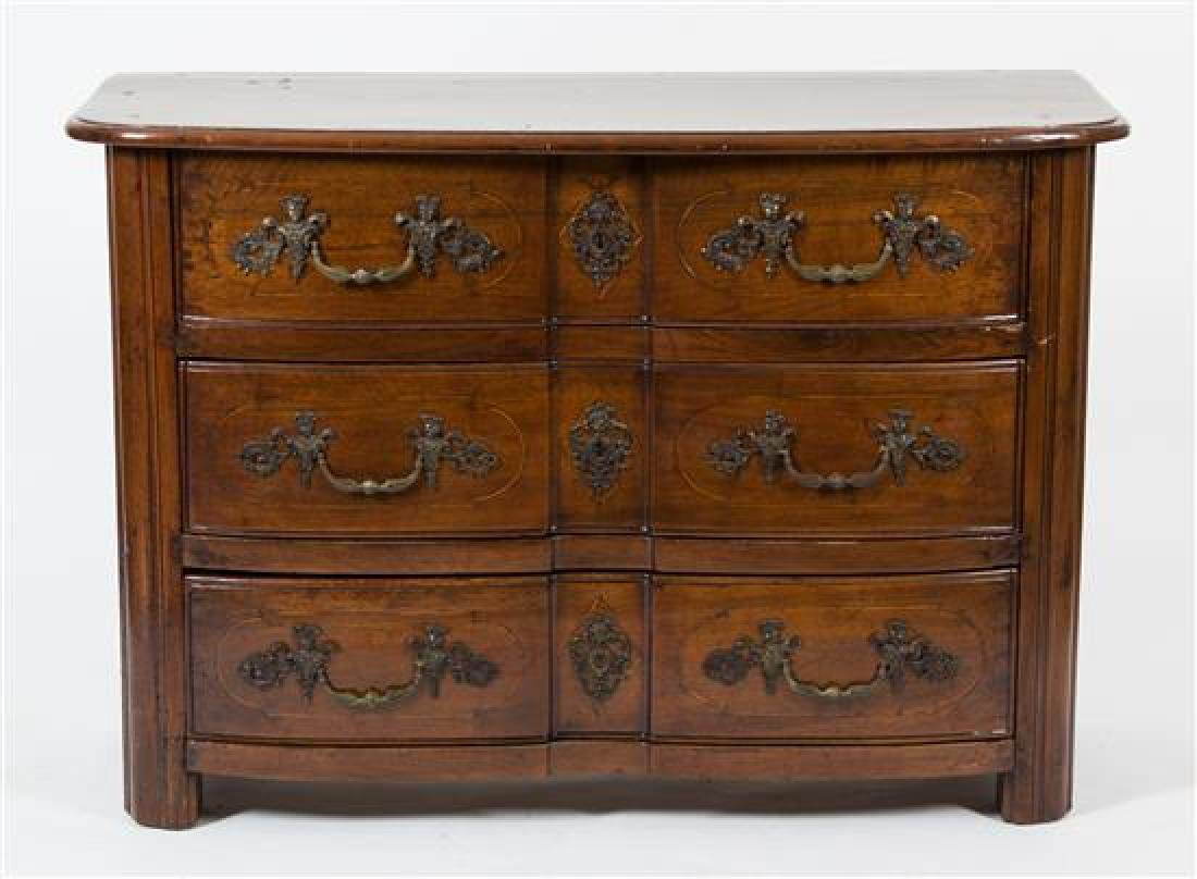 A French Provincial Walnut Commode Height 34 x width 49