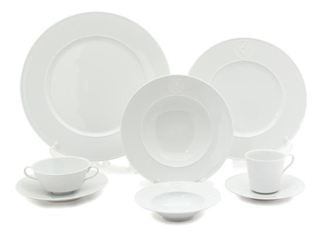 A KPM Royal Berlin Porcelain Dinner Service Diameter of