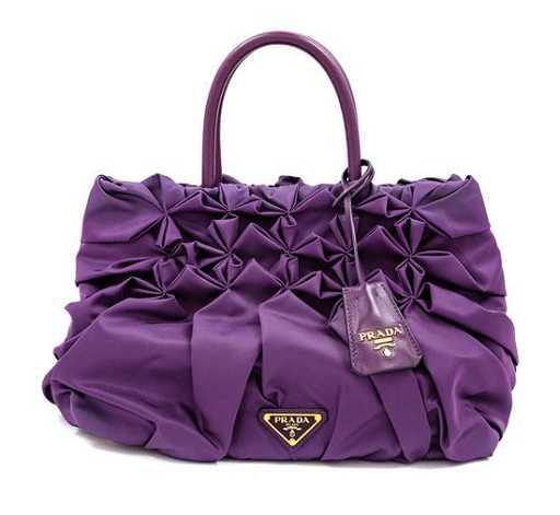 890ee968cc415d A Prada Purple Tessuto Nylon Origami Handbag with