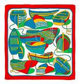 An Herms 90cm Silk Scarf 36 x 36