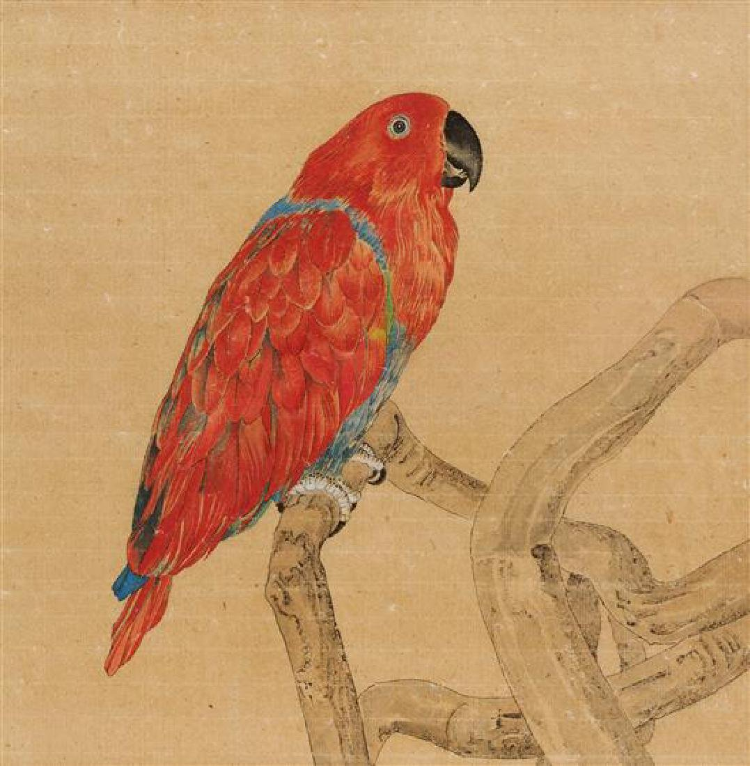 * Liu Dan, (Chinese, b. 1953), Green Parrot and Red - 4