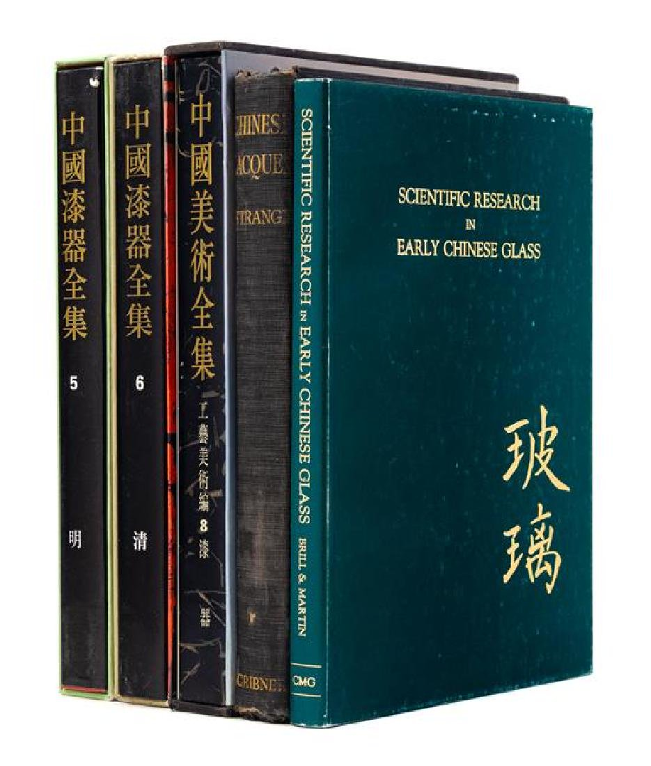 * 22 Books Pertaining to Chinese Lacquer, Enamel and