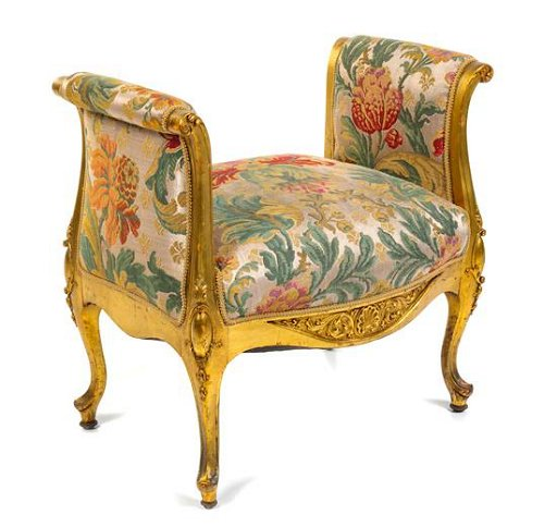 Enjoyable A Louis Xv Style Giltwood Window Seat Width 28 1 2 Onthecornerstone Fun Painted Chair Ideas Images Onthecornerstoneorg