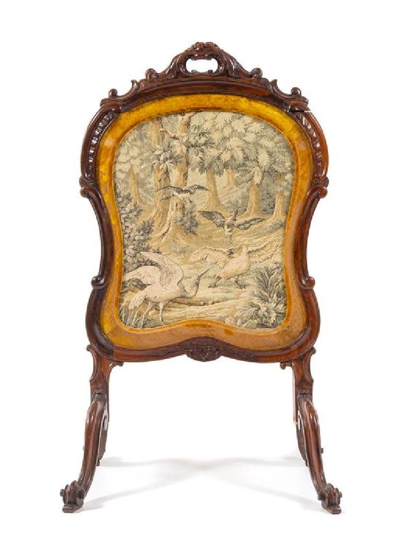 A Louis XV Style Rosewood Fire Screen Height 43 1/2