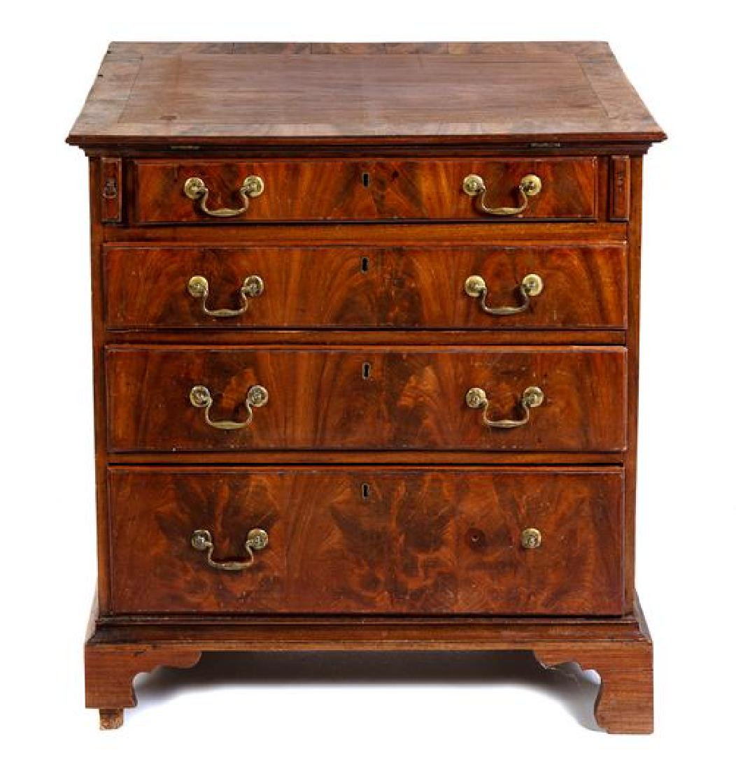 A George III Style Mahogany Bachelor's Chest Height 32