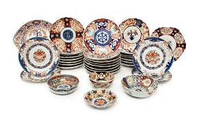 A Collection of Imari Palette Porcelain Articles Width