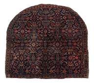A Persian Wool Saddle Rug 3 feet x 2 feet 11 inches.