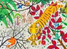 Henri Hecht Maik, (French, 1922-1993), Un Tigre avec