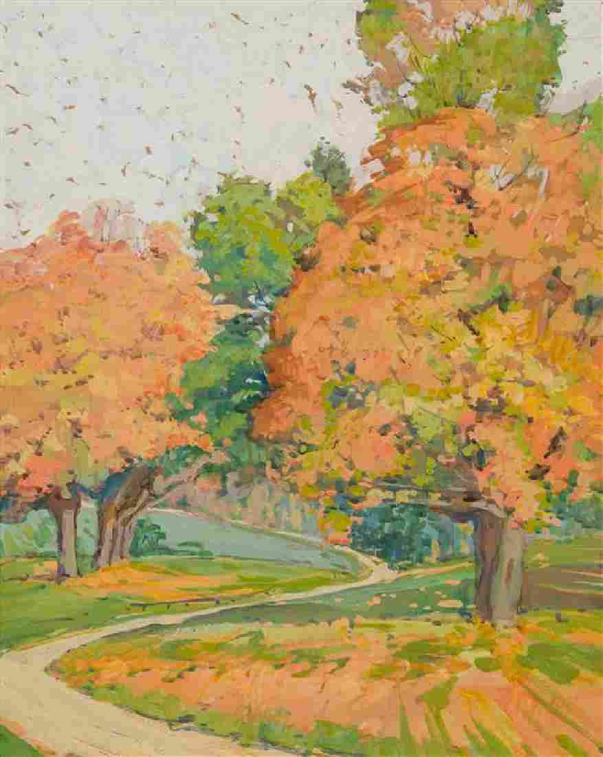Jane Peterson, (American, 1876-1965), Landscape with