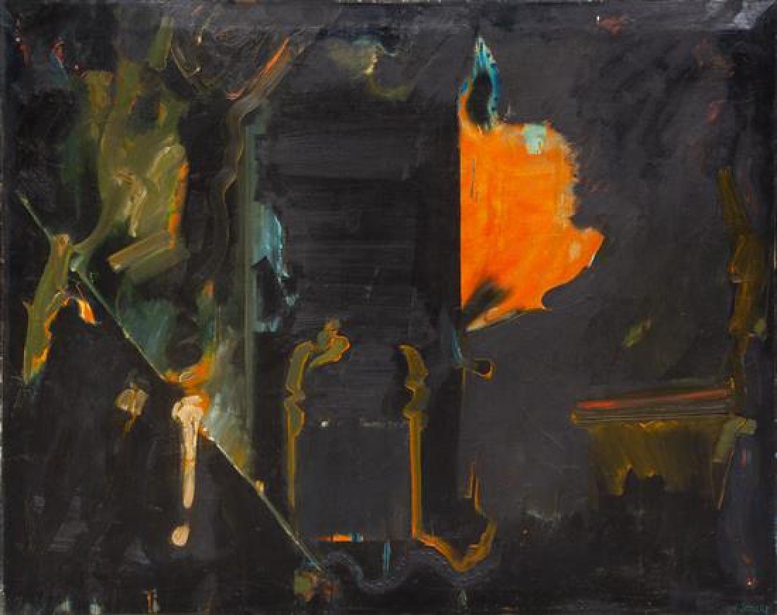 William Scharf, (American, b. 1927), Untitled (Orange