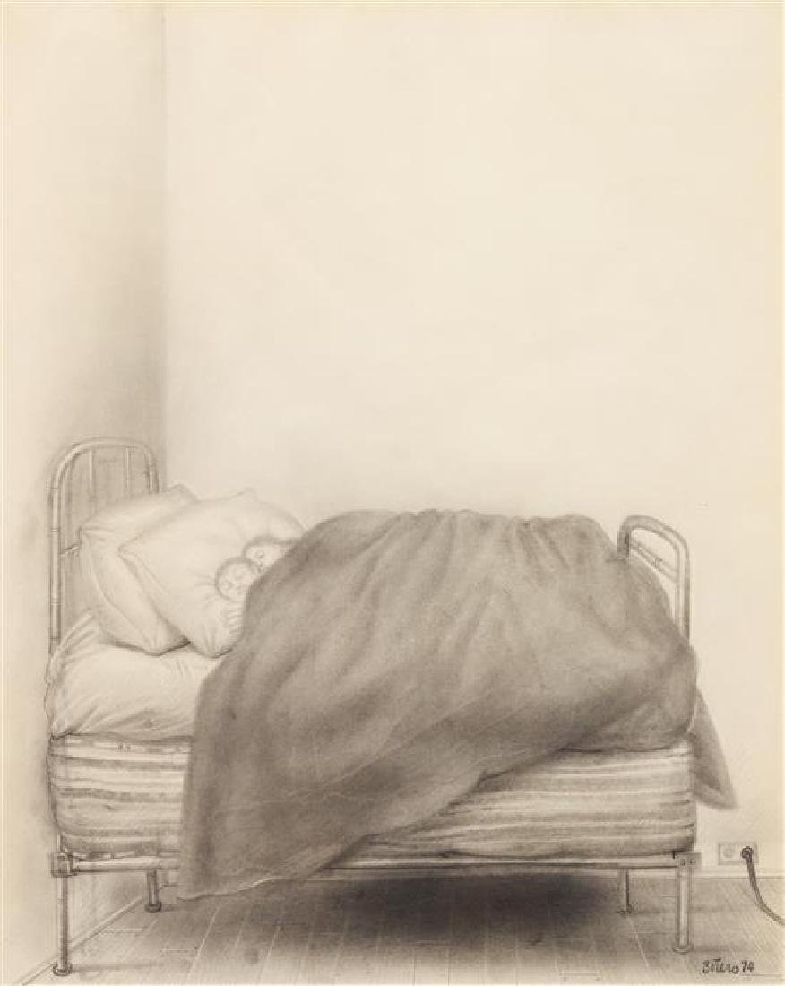 Fernando Botero, (Colombian, b. 1932), Le Lit, 1974