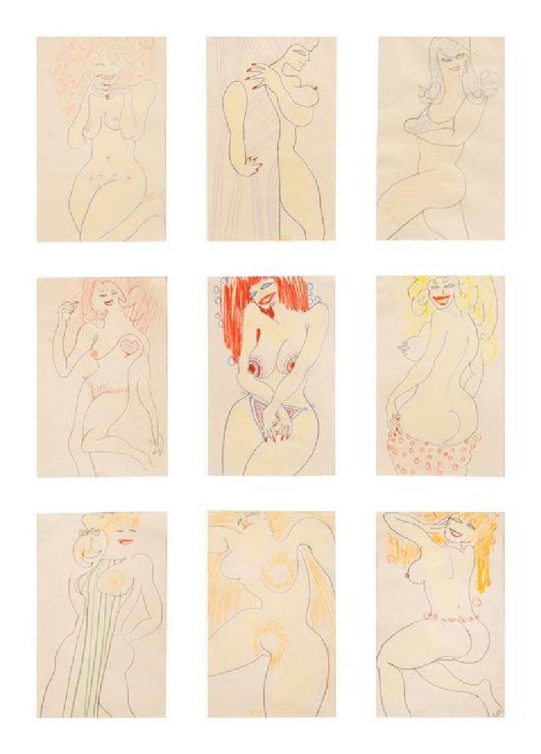 William Scharf, (American, b. 1927), Untitled (Nine
