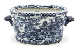 A Chinese Export Blue and White Porcelain Jardiniere