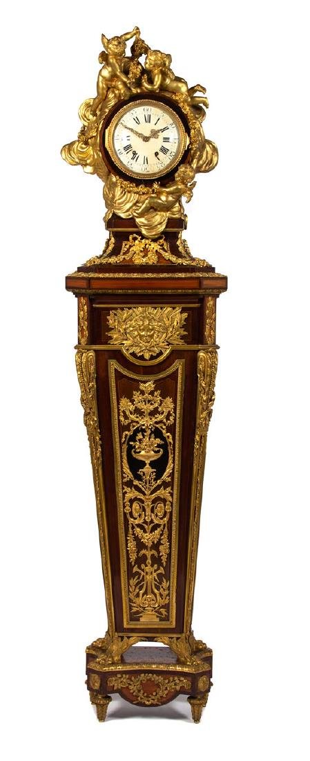 A Louis XVI Style Gilt-Bronze-Mounted Tulipwood and