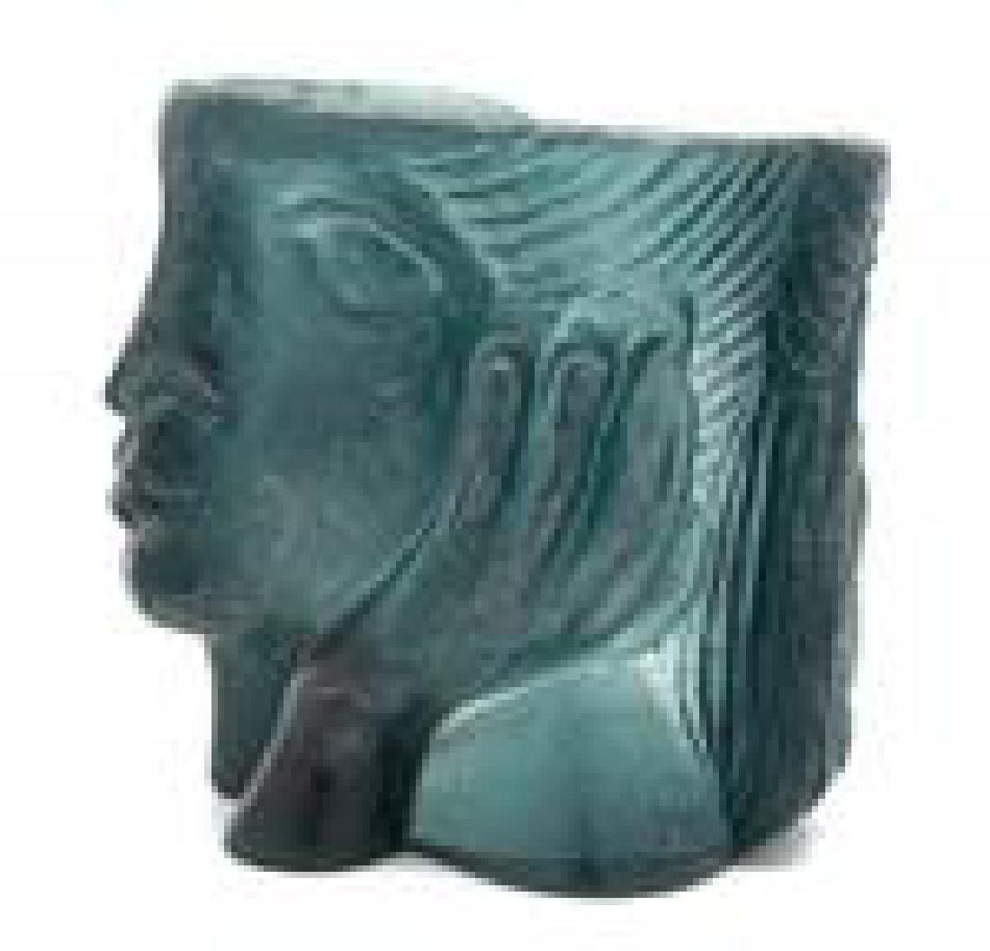 A Daum Pate-de-Verre Figural Sculpture Height 9 1/2 - 2