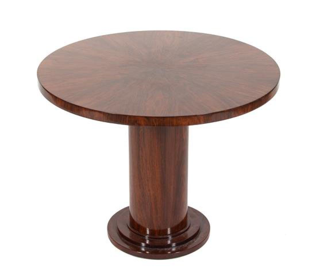 An Art Deco Style Rosewood Veneered Side Table Height