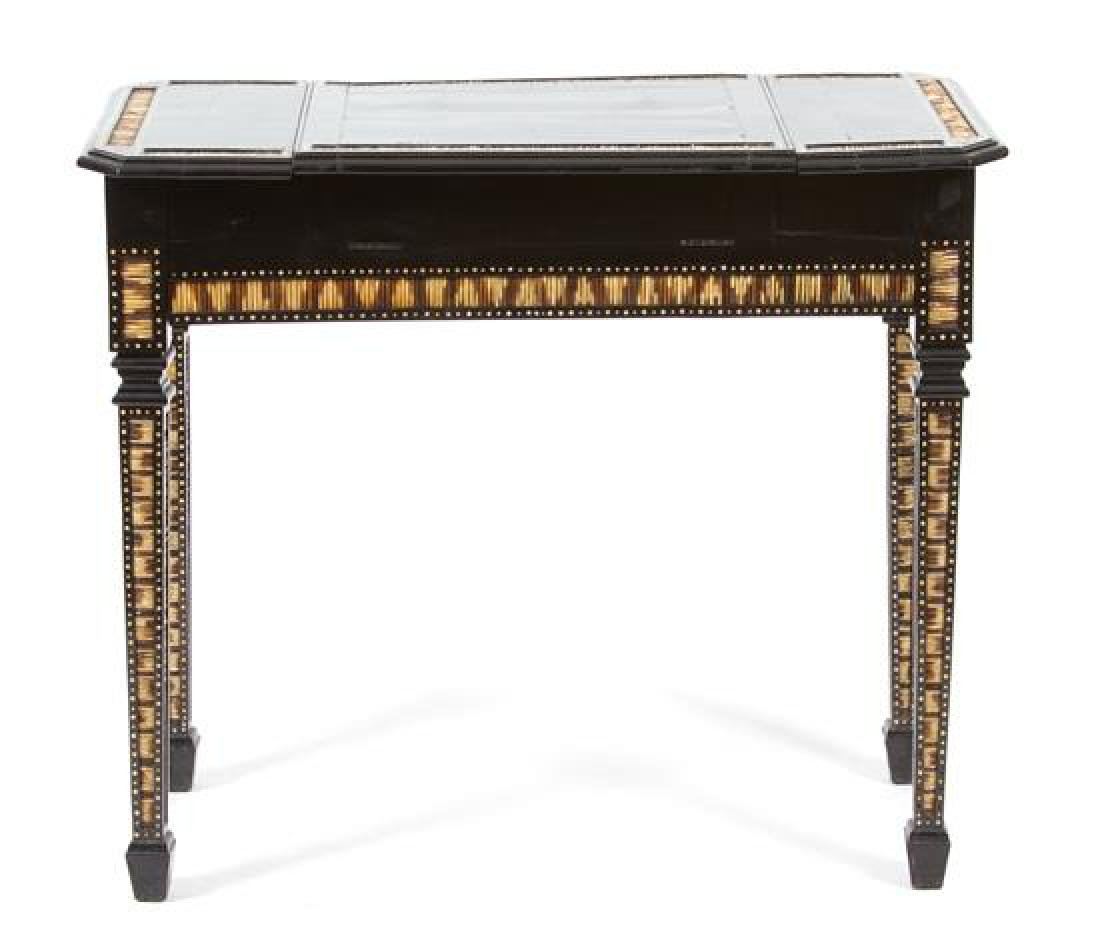 A Ceylonese Ebony and Porcupine Quill Console Table