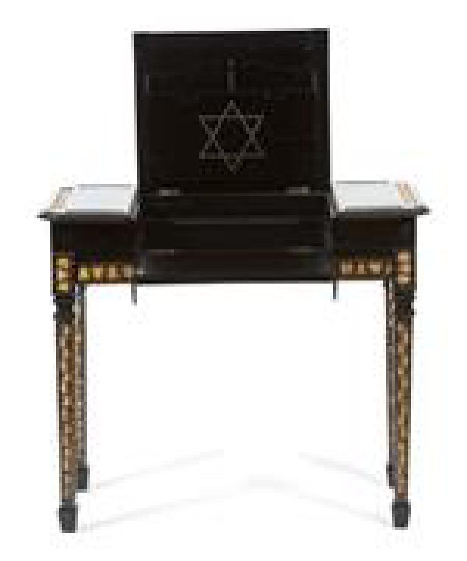 A Ceylonese Ebony and Porcupine Quill Console Table - 2