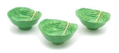 A Set of Six Dodie Thayer Lettuceware Soup Bowls